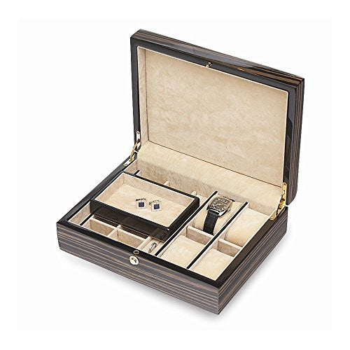 Ebony Striped Jewelry Box - shopvistar