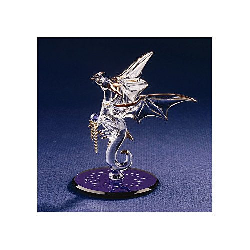 Dragon with Stars Crystal Accented Glass Figurine - shopvistar