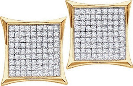 0.10ctw Diamond Ladies Micro Pave Earrings - shopvistar