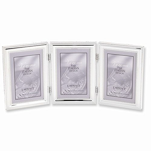 Silver-plated Beaded Triple 5x7 Photo Frame - shopvistar