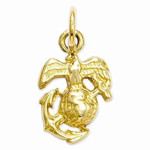 14k U. S. Marine Corps Charm, Best Quality Free Gift Box Satisfaction Guaranteed - shopvistar