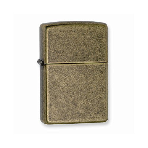 Zippo Antique Brass Lighter - shopvistar