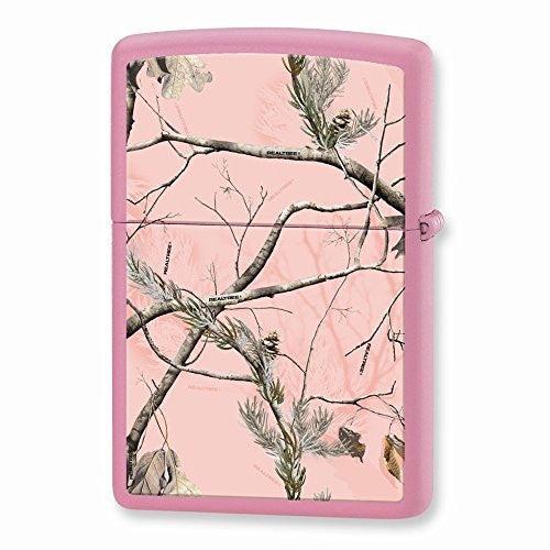 Zippo Realtree APG Pink Camouflage Pink Matte Lighter - shopvistar