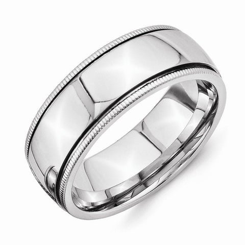 Men,Women's Stainless Steel Band Ring Wedding Engagement Promise Set - shopvistar