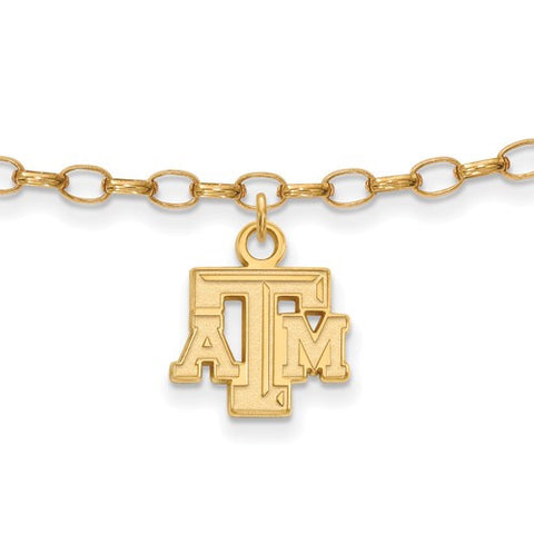 Texas A&M Sterling Silver Anklet - shopvistar