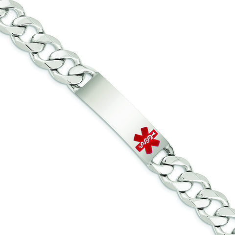 STERLING SILVER POLISHED MEDICAL C- LINK ID BRACELET - shopvistar