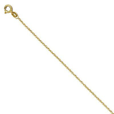 14k Cross Cut-out Pendant with 14k Chain, Size 18 - shopvistar