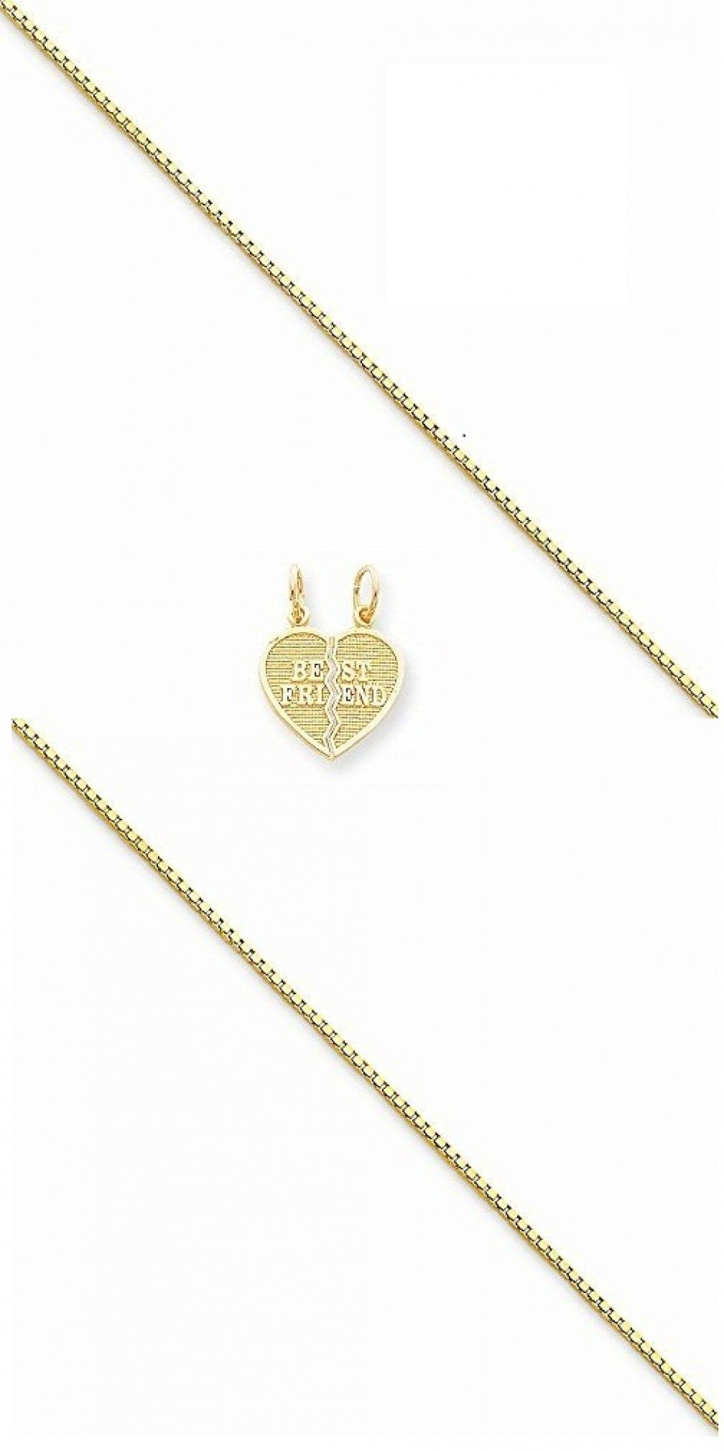 10k Friendship Pendant - Chain Included (2) - shopvistar