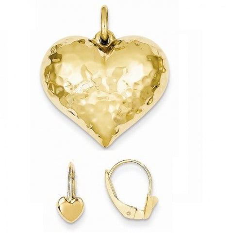 14K heart jewelry set - shopvistar