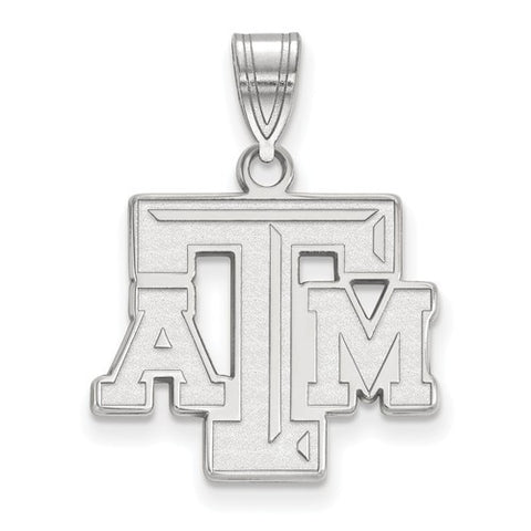 Texas A&M Sterling Silver Medium Pendant - shopvistar