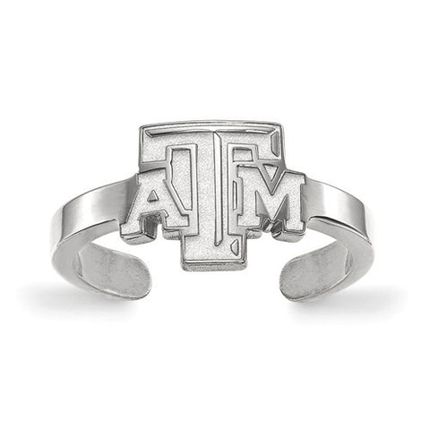 Texas A&M Sterling Silver Toe Ring - shopvistar