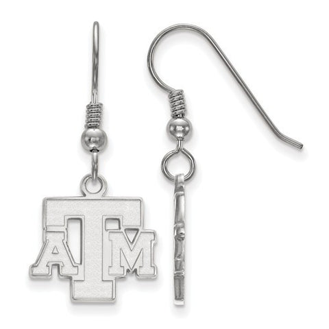 Texas A&M Sterling Silver Small Dangle Earrings - shopvistar