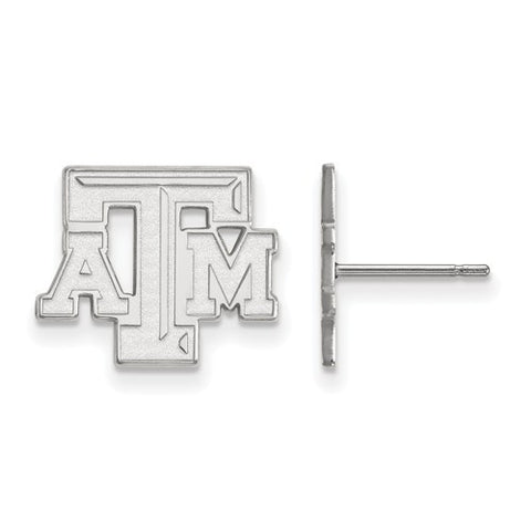 Texas A&M Sterling Silver Small Post Earrings - shopvistar