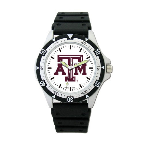 Texas A&M Sport Watch w/ Rubber Strap - shopvistar