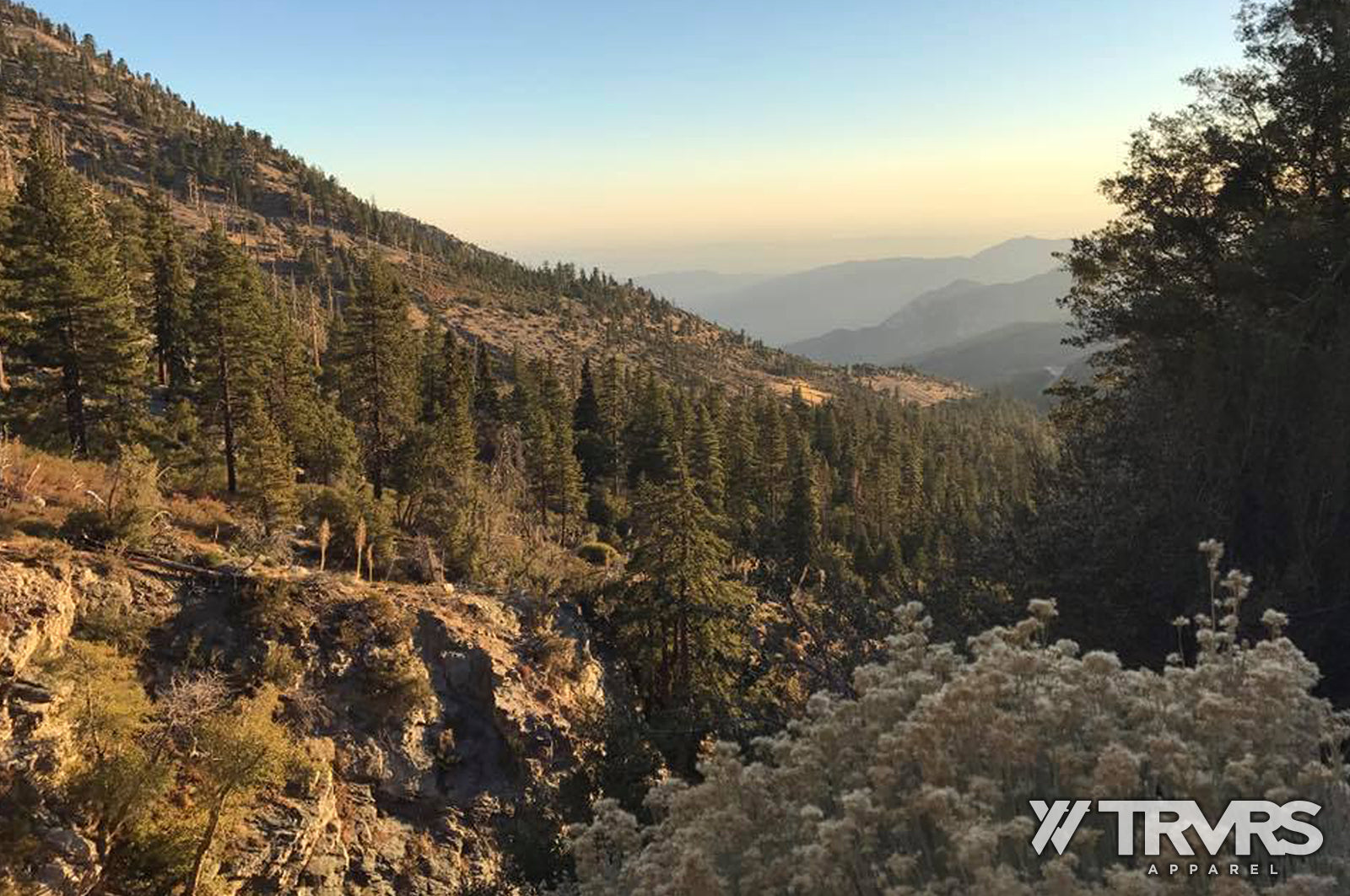 Crystal Lake Campground View San gabriel Mountain Wilderness | TRVRS APPAREL