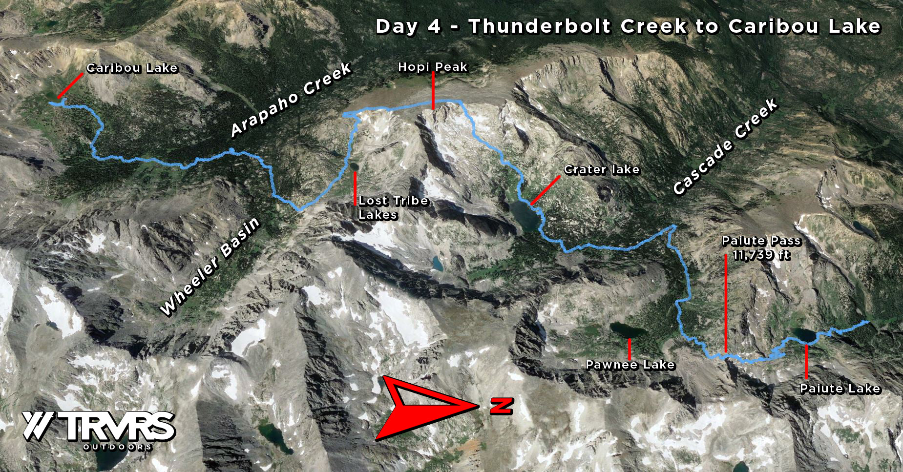 Day 4, Thunderbolt Creek to Caribou Lake - Pfiffner Traverse, Indian Peaks Wilderness, Arapaho National Forest, Colorado Backpacking, Thru Hiking | TRVRS Outdoors