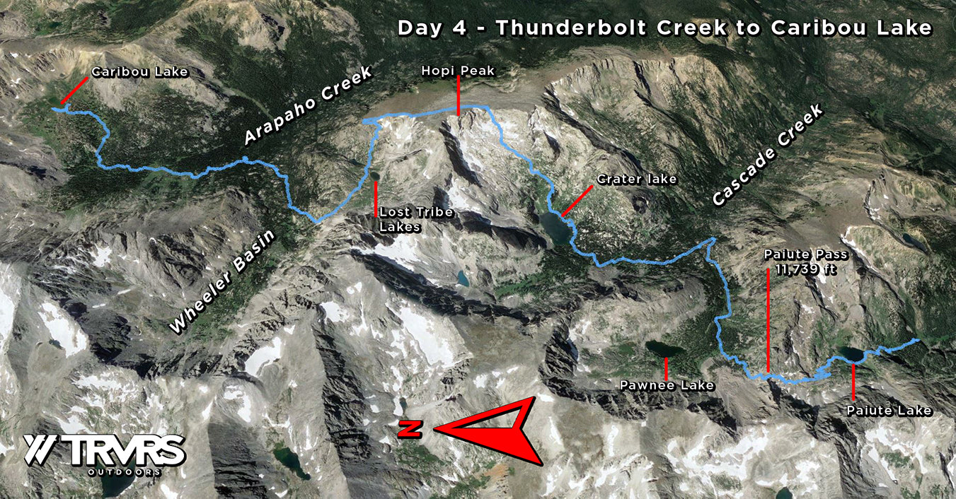 Day 4, Thunderbolt Creek to Caribou Lake - Pfiffner Traverse, Indian Peaks Wilderness, Arapaho National Forest, Colorado Backpacking, Thru Hiking   TRVRS Outdoors
