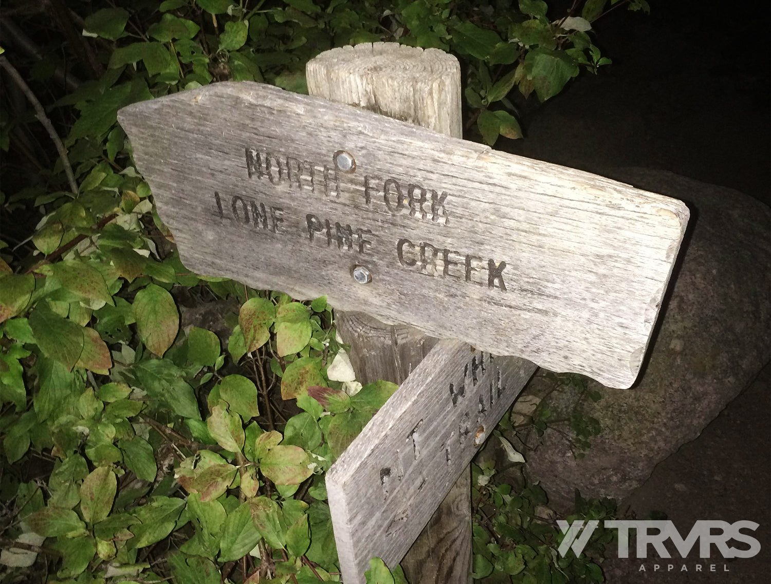 North Fork Trail Junction Sign on Mount Whitney Trail | TRVRS APPARREL