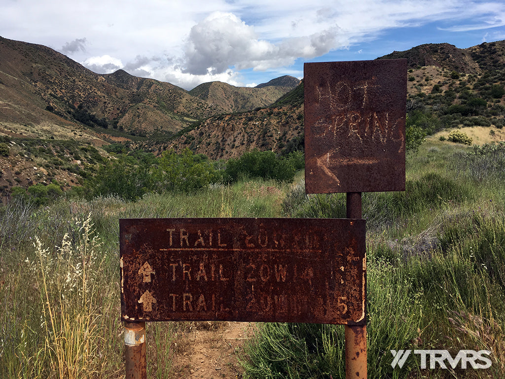 Sespe River Trail Los Padres National Forest - HOT SPRING SIGN | TRVRS APPAREL