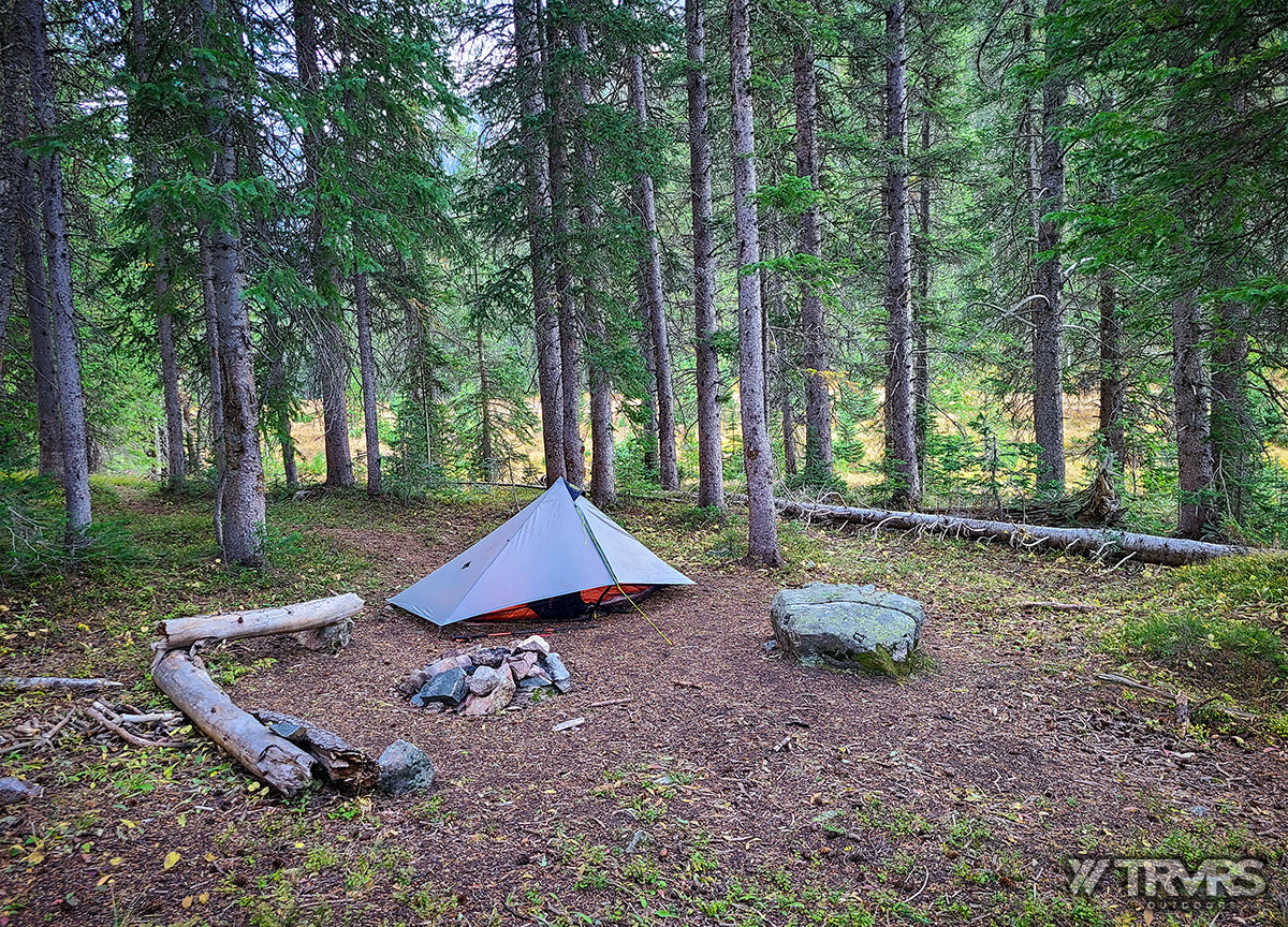 Campsite at Thunderbolt Creek - Pfiffner Traverse, Rocky Mountain National Park, Indian Peaks Wilderness, Arapaho, Colorado, Backpacking, Ultralight | TRVRS Outdoors