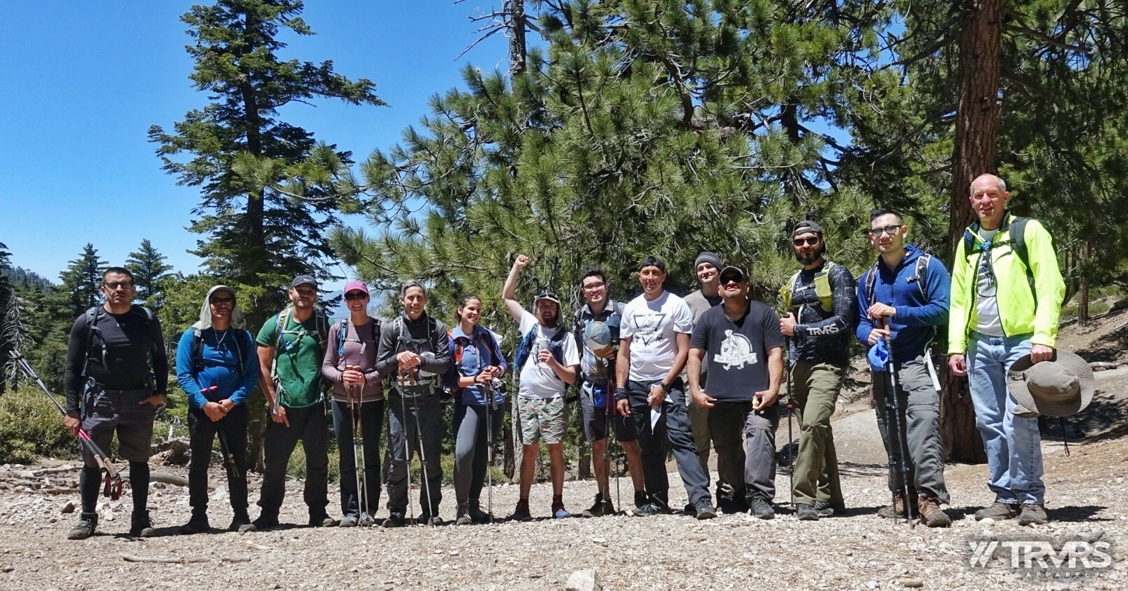 group-photo-icehouse-saddle-Ontario Peak via Falling Rock Canyon - Angeles National Forest - San Gabriel Mountain Range - TRVRS APPAREL - Clothing Brand