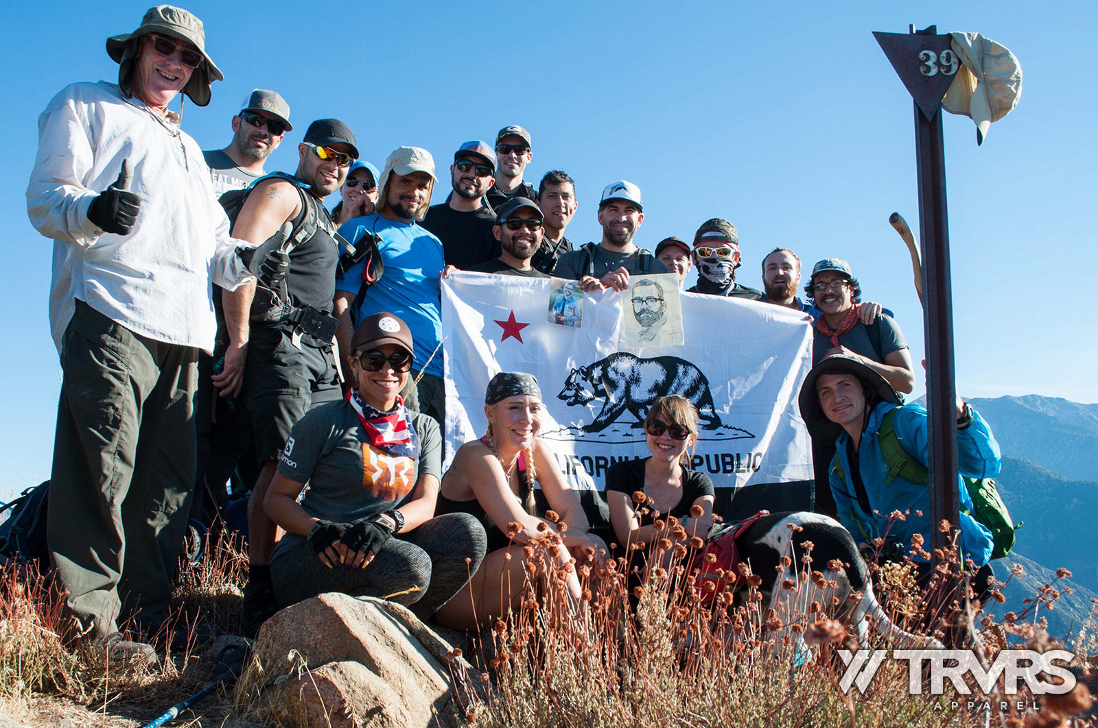 Rattlesnake Peak Group Photo - South Hawkins Traverse | TRVRS APPAREL