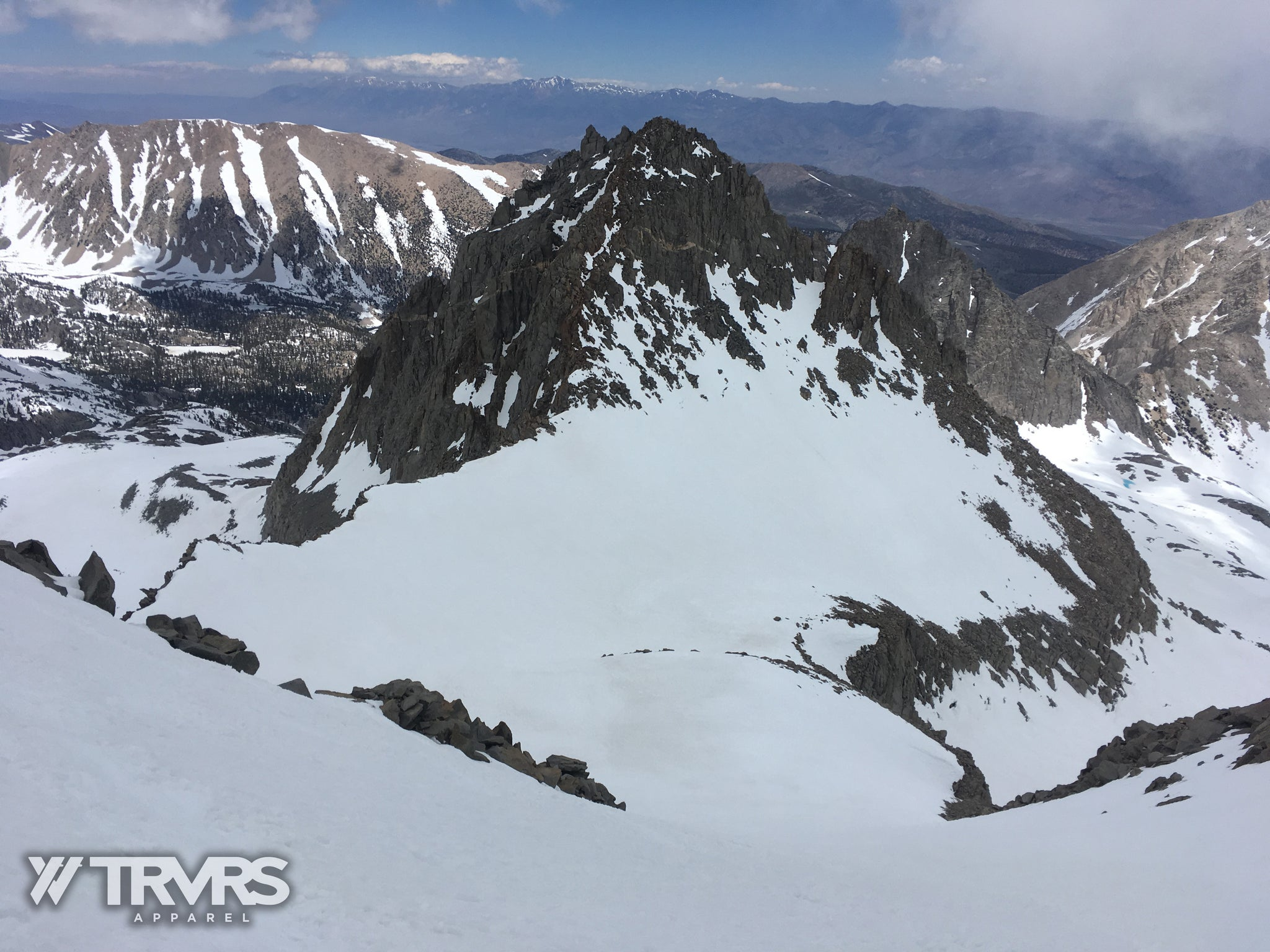 View from Mount Sill's North Couloir - North Fork, Mount Gayley, Contact Pass | TRVRS APPAREL