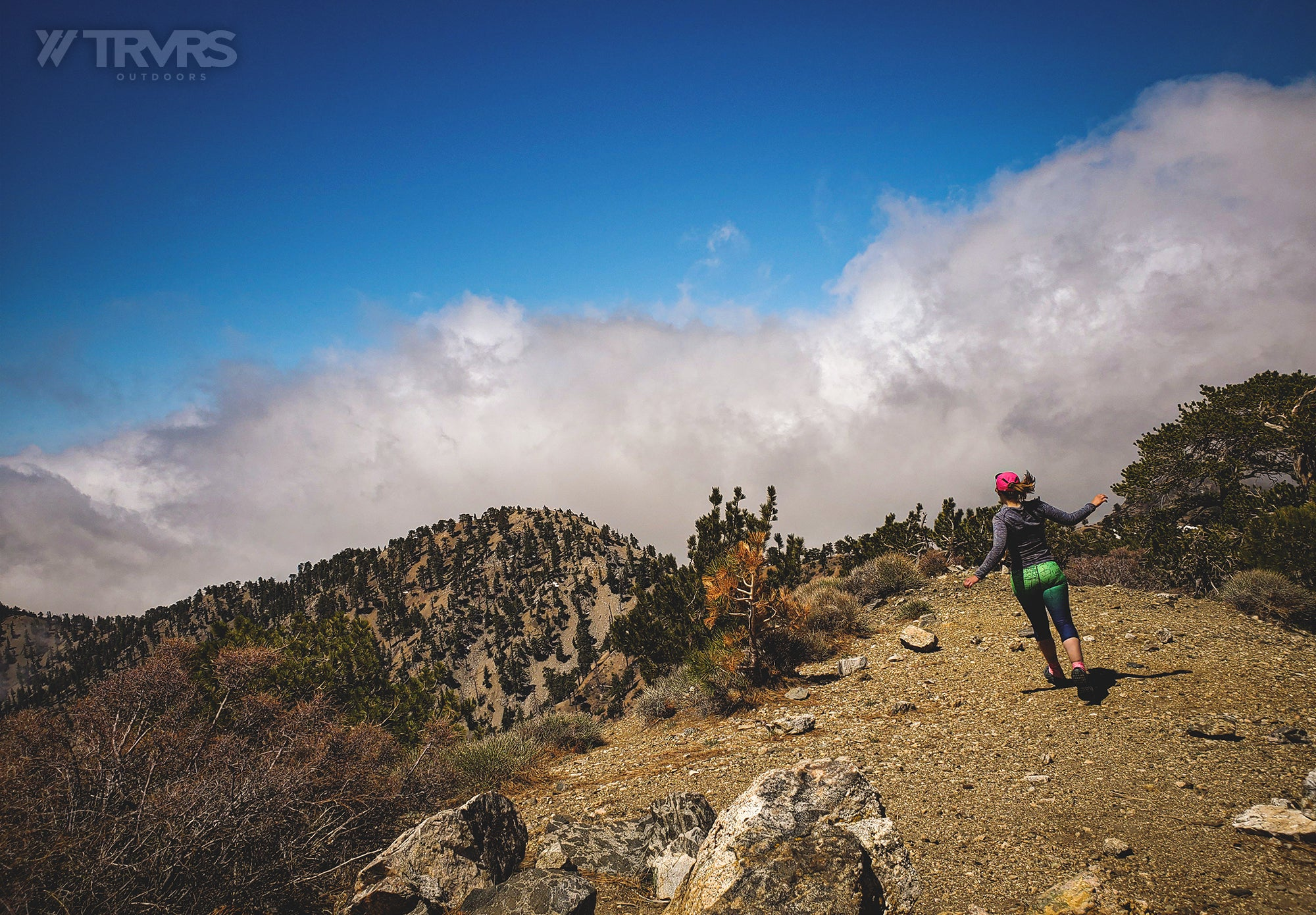 Sara Brown Running - San Gabriel Mountains, Angeles National Forest | TRVRS Outdoors