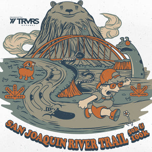 San Joaquin River Trail 50k & 100k Tee Shirt Artwork - Sierra Nevada - Clothing - TRVRS APPAREL