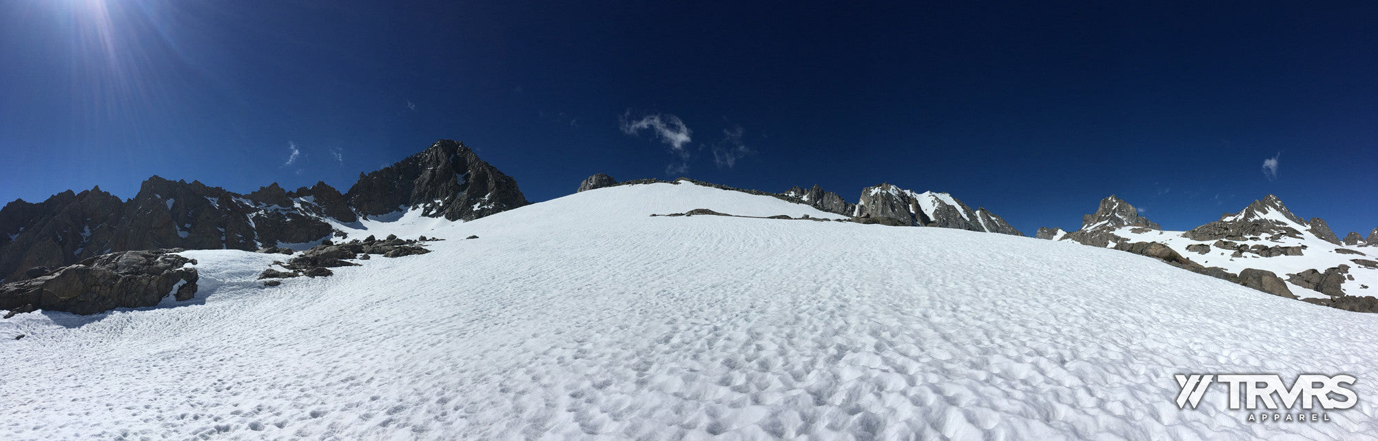A Snowy Slope Approaching Palisade Glacier - Big Pine Lakes | TRVRS APPAREL
