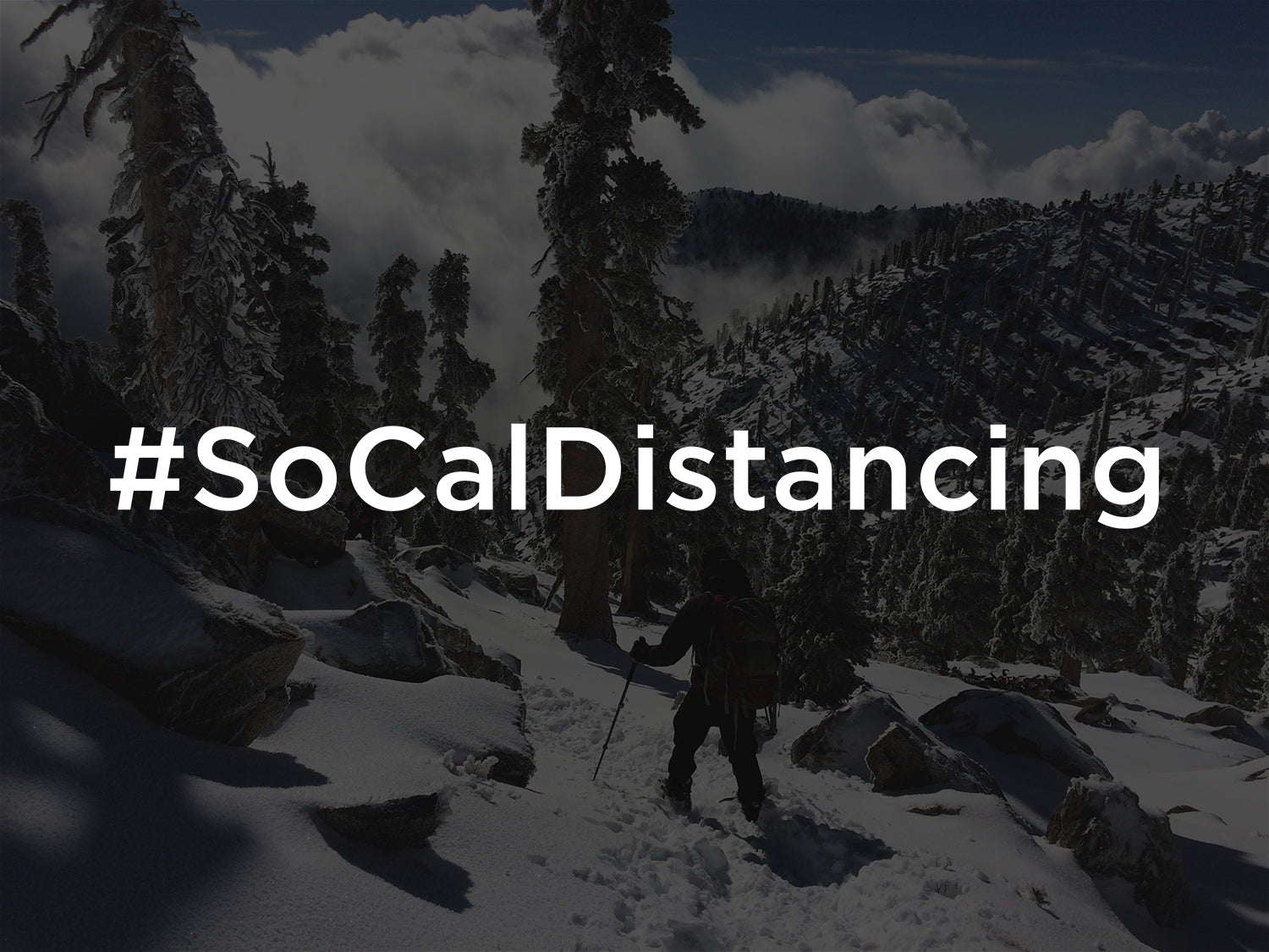 #socaldistancing-TRVRS Outdoors Mount Baldy San Gabriel Mountains Angeles National Forest Hiking Trail Running