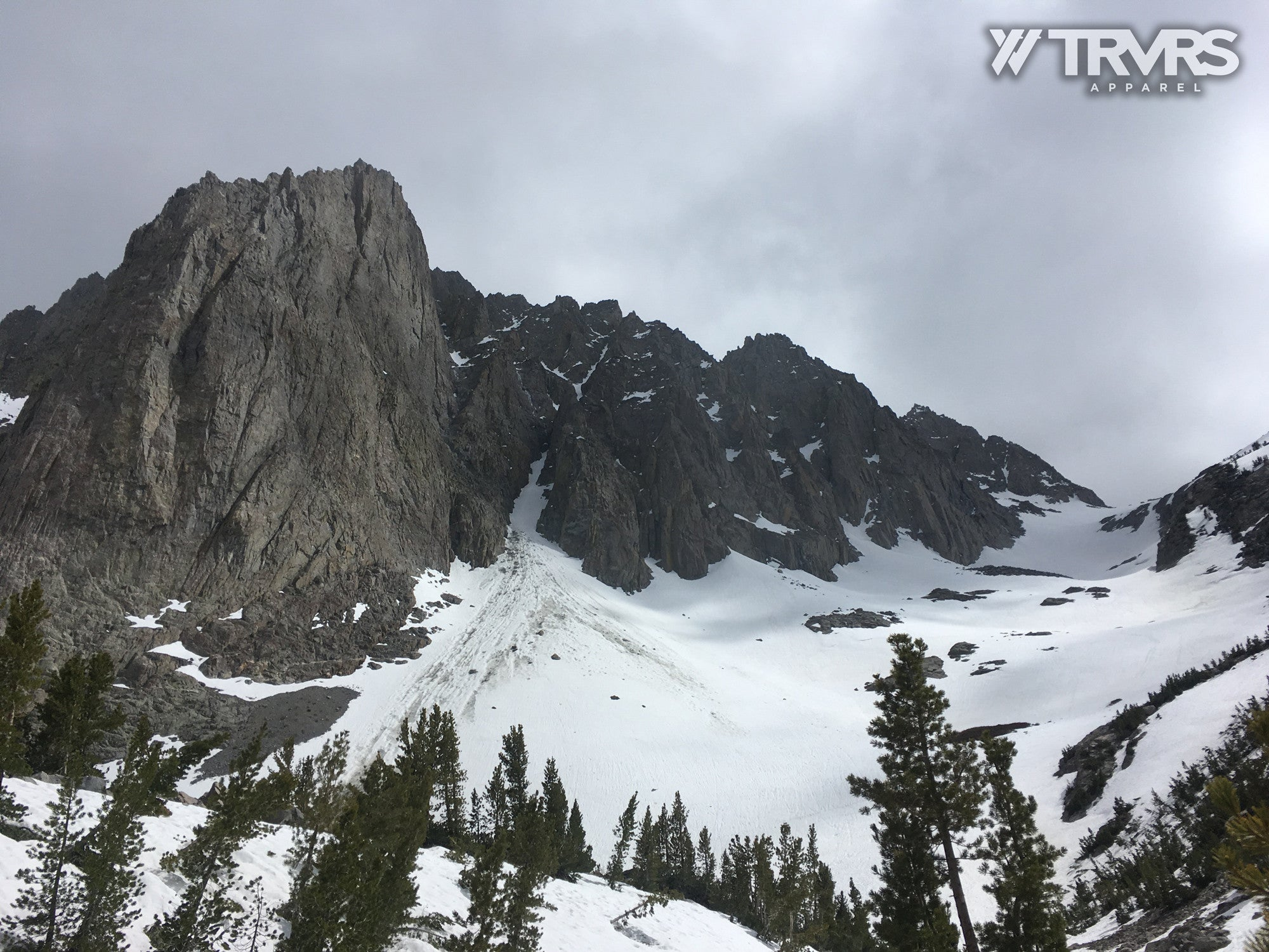 Snowy Slope Below Temple Crag from Third Lake | TRVRS APPAREL