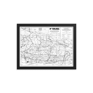 12x16- Framed Angeles National Forest Map Poster