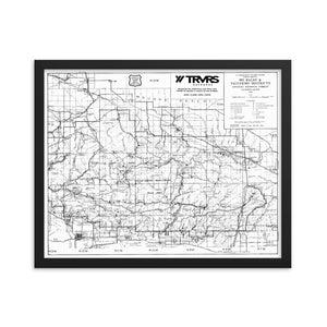 16x20-- Framed Angeles National Forest Map Poster