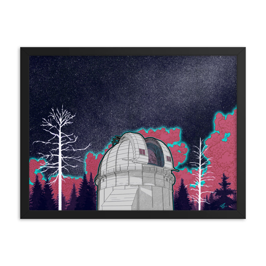 """New Astronomy"" Framed Poster - Mount Wilson Observatory"