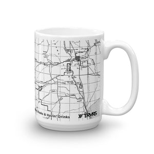 Mount Whitney Map Coffee Mug - 11oz (right) | TRVRS Apparel