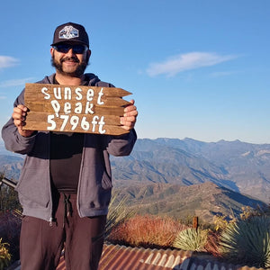 Jorge Vargas - PFTP Trucker Sunset Peak | TRVRS Outdoors Angeles National Forest San Gabriel Mountain Range Hiking Trail Running Mountaineering