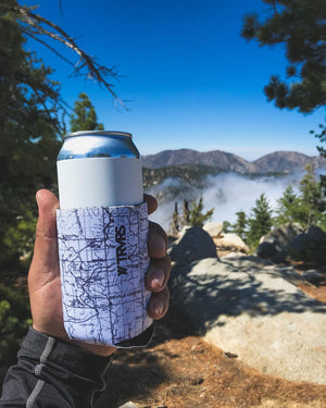 Beer Hike Chill (is it Ivan or Max) Beer Koozie, Mount Waterman TRVRS Outdoors  San Gabriel Mountains Angeles National Forest Hiking Trail Running Mountaineering
