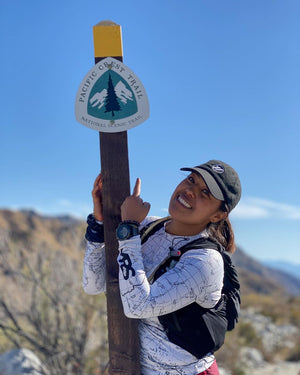 Daisy Martinez Sierra Nevada Base Layer Angeles National Forest San Gabriel Mountain Range Mt Baldy Southern California Pacific Crest Trail