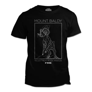 Mount Baldy Big Horn Tee V2 - BLACK | TRVRS Outdoors, hiking apparel, san gabriel mountains, angeles national forest, trail running, mountaineering
