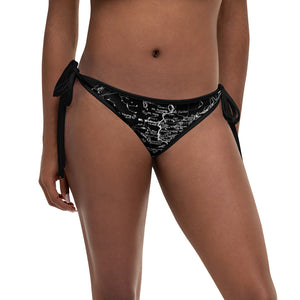 Black, Sierra Nevada Map Reversible Bikini Bottom | TRVRS Outdoors Hiking Apparel, Trail Running Clothing