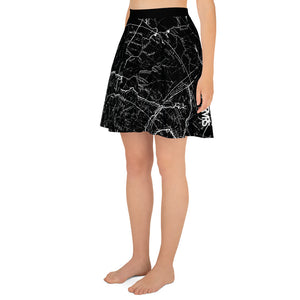 Black, San Gabriel Map - All Over Print Hiking Skirt | TRVRS Outdoors Hiker Clothing, Trail Running Apparel
