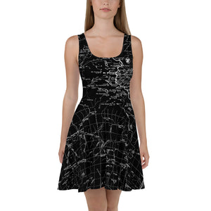 Black, Sierra Nevada Map Hiking Dress | TRVRS Outdoors Hiking Apparel, Trail Running Clothing