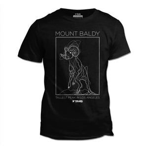 Mount Baldy Big Horn Tee V2 - BLACK HEATHER | TRVRS Outdoors, hiking apparel, san gabriel mountains, angeles national forest, trail running, mountaineering