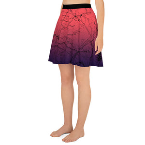 Cosmic Romance, San Gabriel Map - All Over Print Hiking Skirt | TRVRS Outdoors Hiker Clothing, Trail Running Apparel