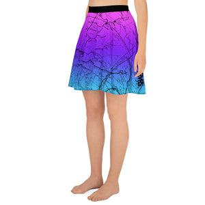 Cotton Candy, San Gabriel Map - All Over Print Hiking Skirt | TRVRS Outdoors Hiker Clothing, Trail Running Apparel