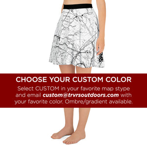 Custom Map Color, San Gabriel Map - All Over Print Hiking Skirt | TRVRS Outdoors Hiker Clothing, Trail Running Apparel