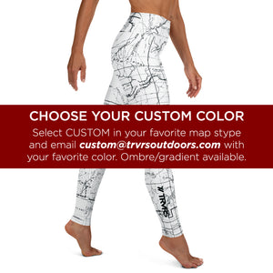 CUSTOM- All Over Print Women's Leggings | TRVRS Outdoors, Hiking, trail running, mountaineering apparel