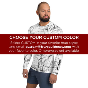 Custom Map Color - All Over Print Men's Base Layer | TRVRS Outdoors Hiking Apparel, Trail Running Clothing