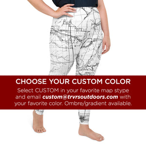 Custom, Right- San Gabriel Map Women's Leggings (plus size)